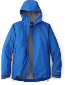 This image shows the men's maritime blue version of the REI Co-op Drypoint GTX jacket.