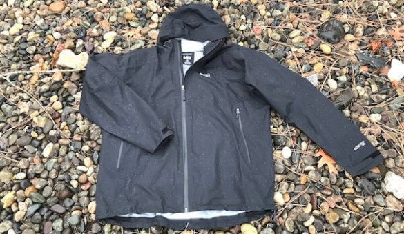 This photo shows the REI Drypoint GTX rain jacket.