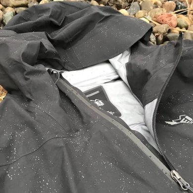 This photo shows the men's REI Co-op Drypoint GTX Jacket.