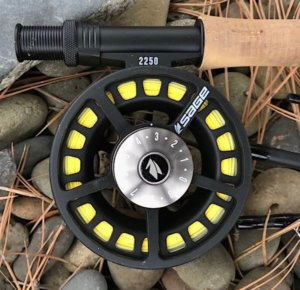 This image shows the Sage 2250 fly reel.