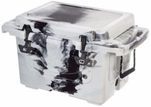 This photo shows the hard-sided Cabela's Polar Cap Equalizer Cooler.