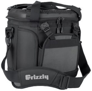 This soft cooler photo shows the Grizzly Drifter 20 soft-sided cooler.