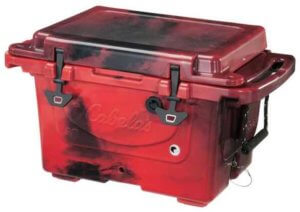 This photo shows the Cabela's Polar Cap Equalizer hard-sided cooler.