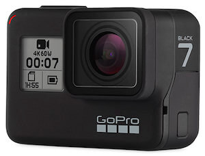 This image shows the GoPro HERO6 Black action camera.
