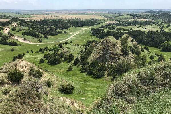 This photo shows some of the Nebraska landscape for spotting and stalking spring turkeys.