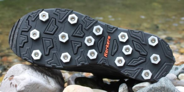 This photo shows a Korkers OminTrax Interchangeable sole.