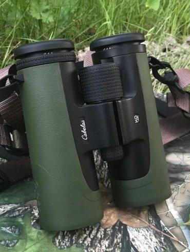This photo shows the Cabela's Instinct HD 10x42 binoculars.