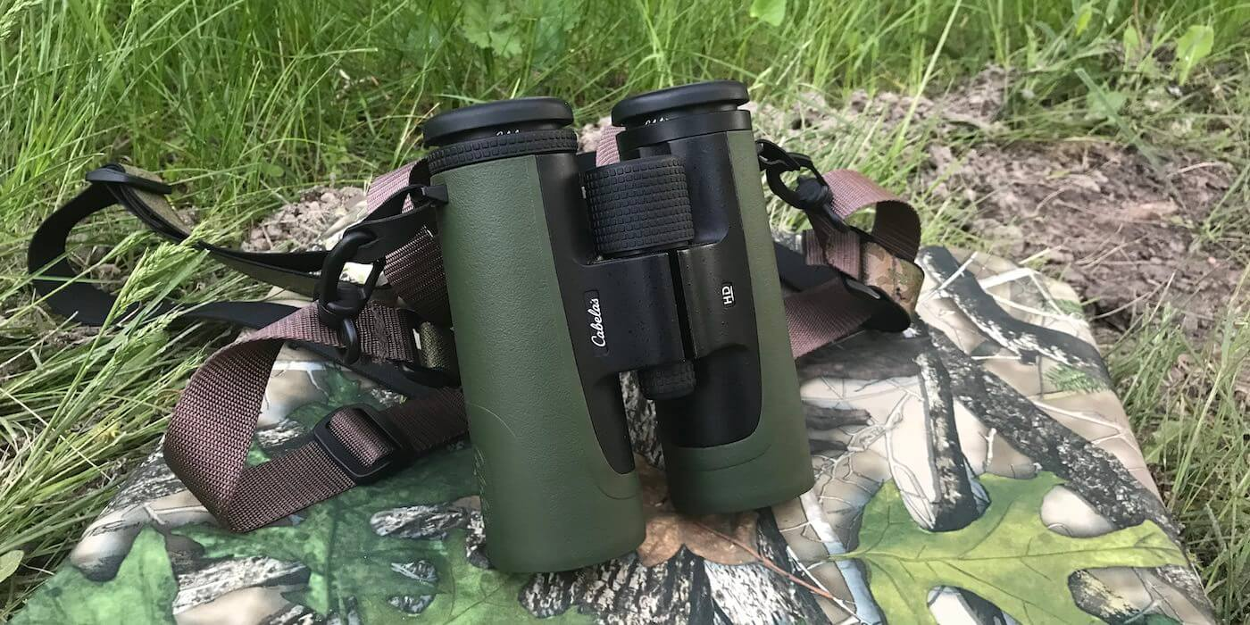 This photo shows the Cabela's Instinct HD 10x42 binoculars.