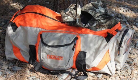 This review photo shows the Scent Crusher Ozone Gear Bag.