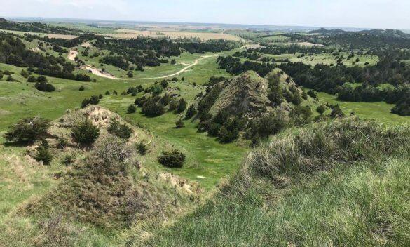 This image shows Nebraska turkey hunting terrain.