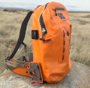 This photo shows the Fishpond Thunderhead Submersible Fishing Backpack.