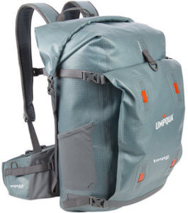This photo shows the Umpqua Tongass 1800 Waterproof Fishing Backpack.