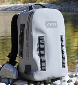 This best fishing backpack photo shows the YETI Panga Backpack 28.