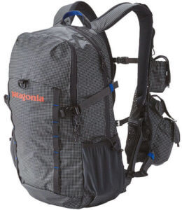 This photo shows the Patagonia Sweet Pack Vest 28L Fishing Backpack.