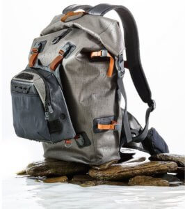 This best fishing backpack photo shows the L.L.Bean Waterproof Switchpack.
