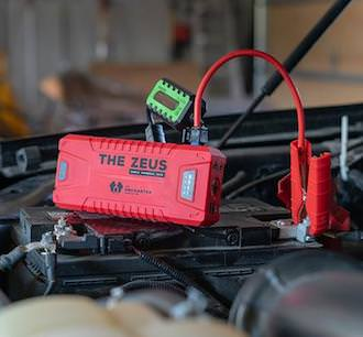 This image shows the Zeus battery charger for jumpstarting vehicles gift idea.