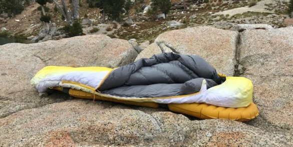 This photo shows the Therm-a-Rest Parsec 20 sleeping bag.