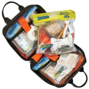 This camping gear photo shows the Cabela's Essentials First Aid Kit by Adventure Medical.