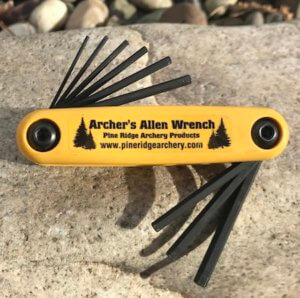This bowhunting gift photo shows the Pine Ridge Archery Archer's Allen Wrench.
