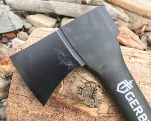 "This photo shows the head of the Gerber 23.5"" Axe."