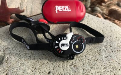This photo shows the Petzl e+LITE Emergency Headlamp.