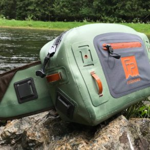 This photo shows the Fishpond Thunderhead Submersible Lumbar Pack.
