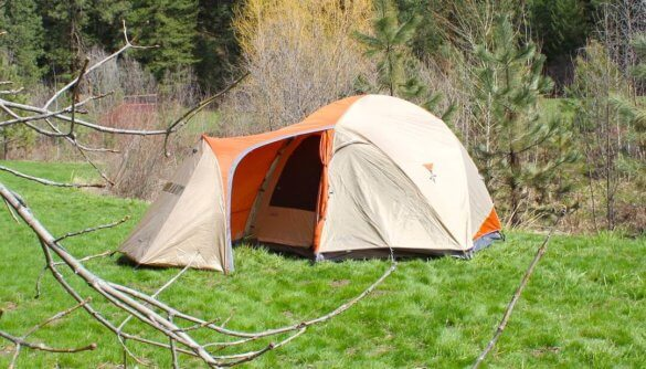 This photo shows the Cabela's West Wind 6-Person Dome tent.
