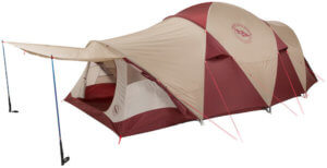 This photo shows the Big Agnes Flying Diamond 8 camping tent.