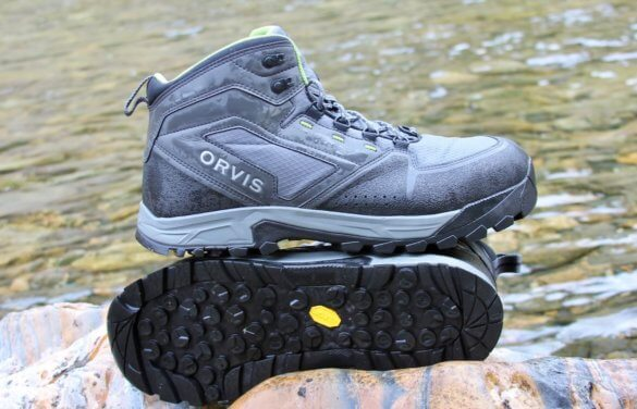 This best wading boots photo shows the Orvis Ultralight Wading Boots.