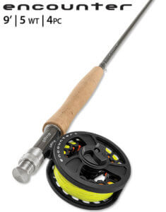 This best fly fishing combo review photo shows the Orvis Encounter fly fishing kit.
