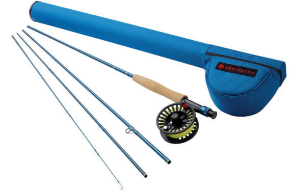 This photo shows the Redington Crosswater fly fishing rod and reel combo.