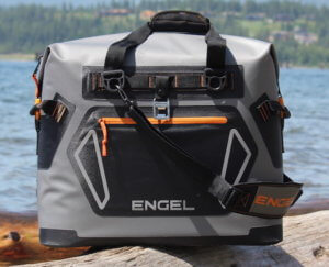 This best soft coolers review photo shows the Engel HD30 soft-sided cooler.