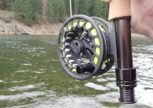 This photo shows a close-up of the Orvis Clearwater II Fly Reel.
