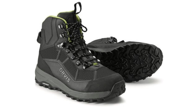 This best wading boots for fishing photo shows the Orvis PRO Wading Boots.