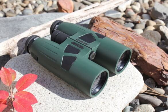 This review photo shows the Cabela's Instinct Euro HD 12x50 binoculars.