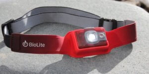 This hunting headlamp photo shows the BioLite Headlamp 200.