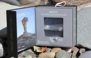 This photo shows the MPOWERD Luci Pro Series solar light packaging box.