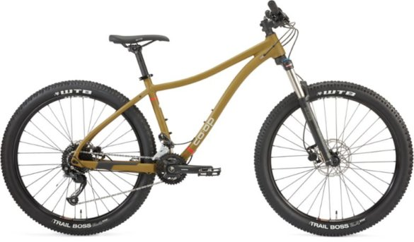 This photo shows the 2021 version of The REI Co-op Cycles DRT 1.2 mountain bike.