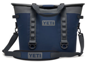 This product photo shows the YETI Hopper M30 in the Navy blue option.