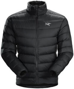 This best down jacket buying guide photo shows the men's Arc'teryx Thorium AR Jacket.