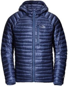 This down jacket buying guide photo shows the men's L.L.Bean Ultralight 850 Down Sweater.