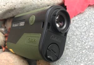 This photo shows the eye cup on the Cabela's Intensity 1600 Laser Rangefinder.
