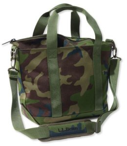 This hunter gift idea shows the L.L.Bean Hunter's Tote Bag product.