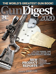 This hunting gift idea photo shows the cover of the book, Gun Digest 2020, 74th Edition: The World's Greatest Gun Book!