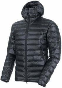 This best down jacket buying guide photo shows the men's Mammut Broad Peak Down Jacket.