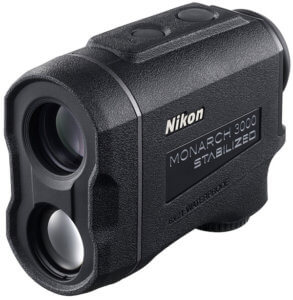 This photo shows the Nikon MONARCH 3000 Stabilized Laser Rangefinder.