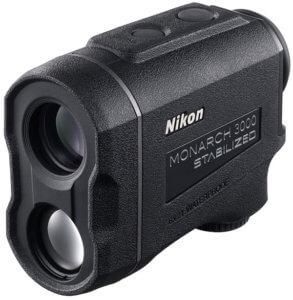 This photo shows the Nikon MONARCH 3000 Stabilized Laser Rangefinder.