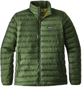 This best down jacket buying guide photo shows the men's Patagonia Down Sweater.