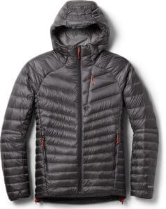 This best down jacket photo shows the REI Co-op Magma 850 Down Hoodie 2.0 down jacket.