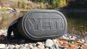This photo shows the bottom of the YETI Hopper M30 soft-sided cooler.